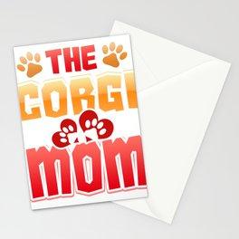 Dog Lover Corgi Mom Dog Mom Stationery Cards