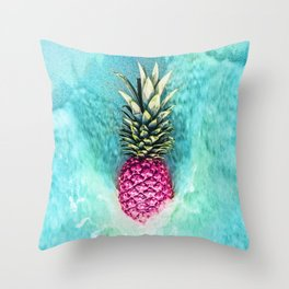 Pineapple Waves Throw Pillow