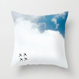 Aerial Show Throw Pillow