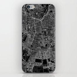 Santiago Black Map iPhone Skin