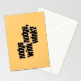 Nudge nudge, wink wink? Stationery Cards