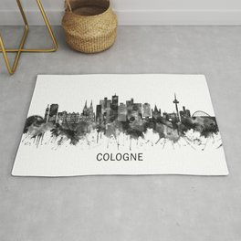 Cologne Germany Skyline BW Rug