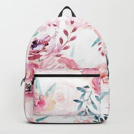 Pink Watercolor Florals I Backpack