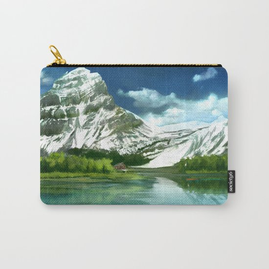 Mountain and lake landscape Carry-All Pouch