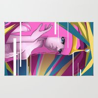 princess bubblegum Area & Throw Rugs featuring Princess Bubblegum by Kimball Gray