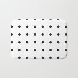 Black dots on white Bath Mat