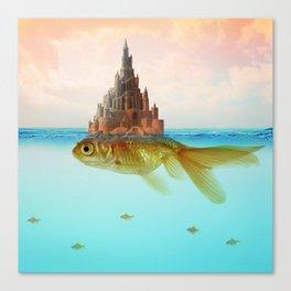 Goldfish Castle Island Canvas Print