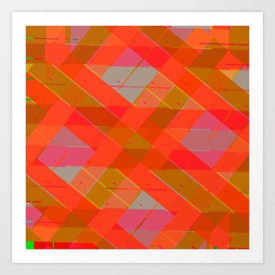 Abstract Strips Pattern Art Print