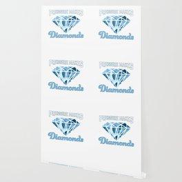 Cute Pressure Makes Diamonds Motivational Wallpaper