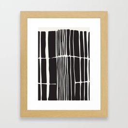 Black lines art, Lines print, Modern poster, Abstract art, Mid century modern, Minimalist print, Bla Framed Art Print