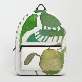 Green Abstract Figure Backpack