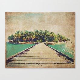 Watercolor Beach Walk  Canvas Print