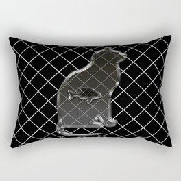 Cat and fish Rectangular Pillow