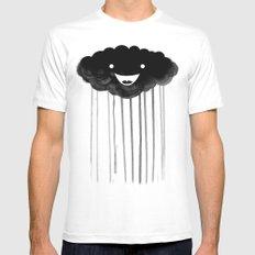 dark cloud MEDIUM White Mens Fitted Tee