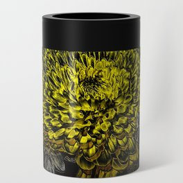 Black yellow art Can Cooler