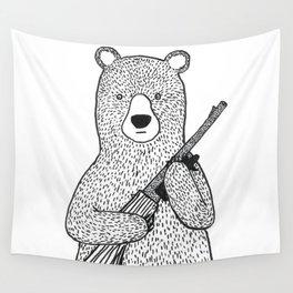 Danger bear Wall Tapestry