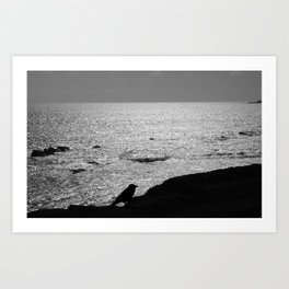 ALONE AT SEA Art Print