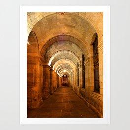 Raxoi Palace in Santiago de Compostela, Spain Art Print