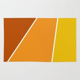 Diagonal Color Blocks in Yellow and Orange Rug