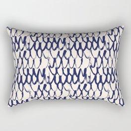 Net pattern. Dry brush. Rectangular Pillow