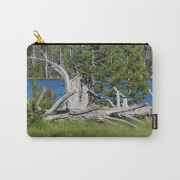 road trip, wood pile, lake, grass, snag Carry-All Pouch
