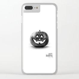 Halloween graffiti Clear iPhone Case