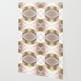 Abstract Brown and Yellow Pattern Wallpaper