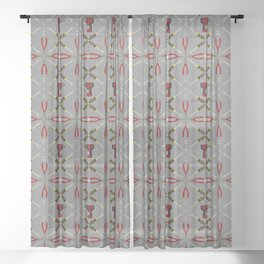 Wrenches, Drills, and Plyers Pattern Sheer Curtain