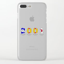 2001 - NAVY - My Year of Birth Clear iPhone Case