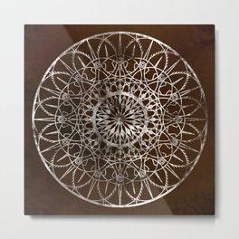 Fire Blossom - Brown Metal Print