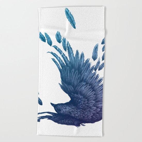 Midnight Falling Beach Towel