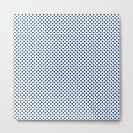 Star Sapphire Polka Dots Metal Print