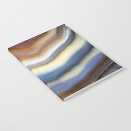 Colorful layered agate 2075 Notebook