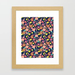 Night wild flowers Framed Art Print