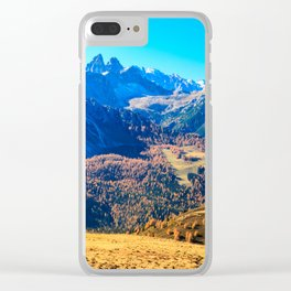 Autumn trekking in the alpine Pusteria valley Clear iPhone Case