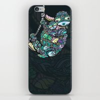 sloths iPhone & iPod Skins featuring Sleepy Sloths by LindseyRossInk