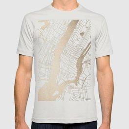 New York City White on Gold T-shirt