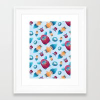 90s Framed Art Prints featuring Sweet 90s by Ana Makes Art