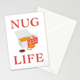 Nug Life Cute Chicken Nuggets print Stationery Cards