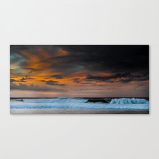 Sunset over Pipeline, Hawaii Canvas Print