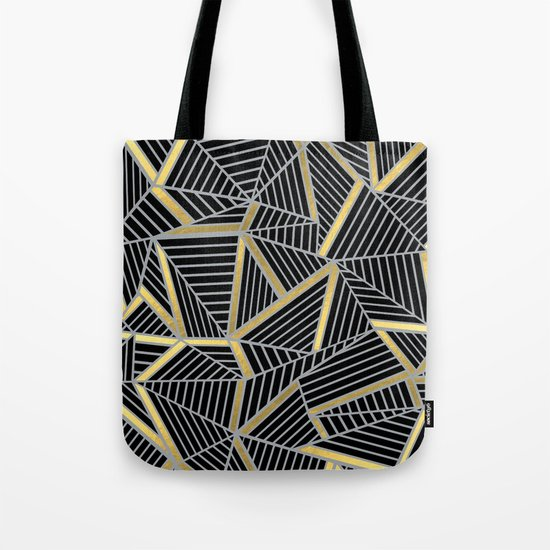 Ab 2 Silver and Gold Tote Bag