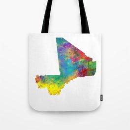 Mali Watercolor Map Tote Bag