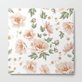 Flower samless pattern Metal Print