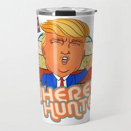 Donald Trump - Where's Hunter  2020 Funny Comedy Retro Art Travel Mug