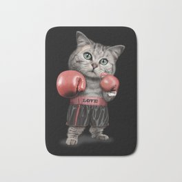 BOXING CAT Bath Mat