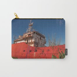 Huge old ship abandoned and corroded by the passage of time Carry-All Pouch
