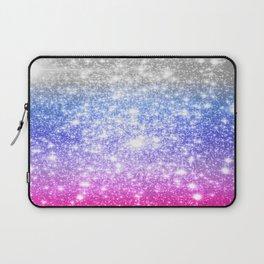 Galaxy Sparkle Stars Periwinkle Pink Laptop Sleeve