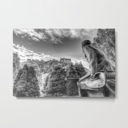 Scots American Memorial And Edinburgh Castle Metal Print