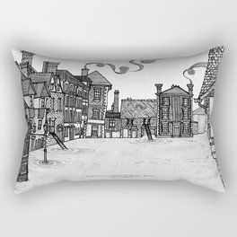 Victorian Frankwell Under Water, black and white Rectangular Pillow