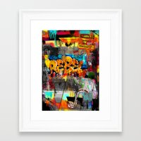 rebel Framed Art Prints featuring Rebel. by Grant Pearce